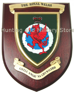 Royal Welsh Regimental Military Wall Plaque Mess Shield